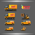 Delivery Vehicles Types Royalty Free Stock Photo