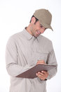 Delivery worker Stock Image