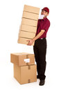 Deliveryman occupato Immagine Stock