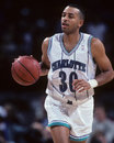 Dell curry charlotte hornets guard image taken from color slide Royalty Free Stock Image