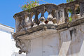 Delli santi palace manfredonia puglia italy detail of the Stock Photo