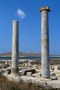 Delos the island of an important archaeological site in greece Royalty Free Stock Photography