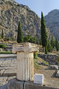 Delphi greece heavenly ancient ruins in Royalty Free Stock Images