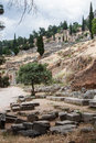 Delphi Ruins Greece Stock Photo
