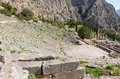 Delphi theater and Apollo temple, Greece Royalty Free Stock Photo