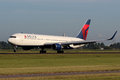 Delta air lines boeing amsterdam july lands at ams airport in netherlands on july is one of the biggest airlines in the Stock Photography
