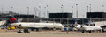 Delta Terminal at O'Hare Airport, Chicago, IL. Royalty Free Stock Photo