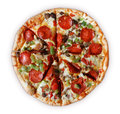 Deluxe Pizza - Sliced Royalty Free Stock Photo