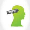 Dementia illustration design over a white background Royalty Free Stock Photo