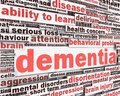 Dementia message conceptual design Royalty Free Stock Photography