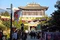 Demi gods en van semi duivels de filmstad is een kunstmatige chinese oude die stad in dali stad yunnan wordt gebouwd werd china it Royalty-vrije Stock Foto