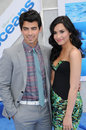 Demi Lovato,Joe Jonas Stock Photos