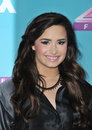 Demi lovato at the press conference for the season finale of fox s the x factor at cbs televison city los angeles december los Royalty Free Stock Photos