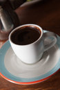 Demitasse cup of Turkish coffee Royalty Free Stock Photos