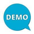Demo with shadow, Speech Bubble Royalty Free Stock Photo
