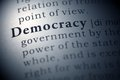 Democracy dictionary definition of the word Royalty Free Stock Photography