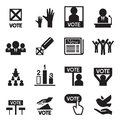 Democracy icon set