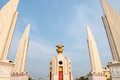 Democracy monument at bangkok thailand the on ratchadamnoen avenue in Stock Image