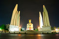 Democracy monument the thai anusawari prachathipatai is a public in the centre of bangkok capital of thailand Royalty Free Stock Photo