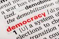 Democracy word definition in dictionary Royalty Free Stock Images