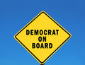Democrat on Board Royalty Free Stock Photo