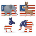 Democrat and republican symbols Stock Image