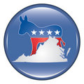 Democrat Virginia Button Royalty Free Stock Image