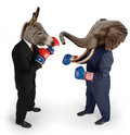 Democrat vs. Republican Royalty Free Stock Photo