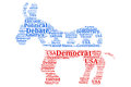 Democratic Debate - Donkey Word Cloud Royalty Free Stock Photo