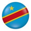 Democratic Republic of Congo button on white background