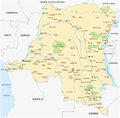 Democratic republic congo map