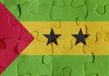 Democratic Republic of Sao Tome and Principe flag puzzle