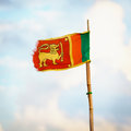 Democratic socialist republic of sri lanka flag old fabric Royalty Free Stock Photos