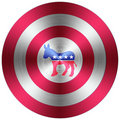 Democrats metallic button Royalty Free Stock Photography