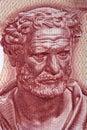 Democritus, a portrait Royalty Free Stock Photo