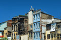 Demolished houses in istanbul under blue sky Stock Photos