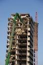 Demolishing highrise building Stock Photography