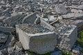 Demolition of buildings in urban environments.