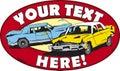 Demolition cars logo design for derby Royalty Free Stock Images