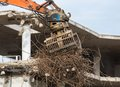 Demolition of a concrete building Stock Image