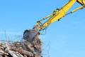 Demolition crane Stock Image