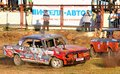 Demolition derby ufa russia august unidentified competitor s gaz volga no takes part at the arena on august in ufa russia Stock Photo