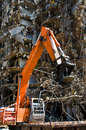 Demolition equipment on the job Stock Photos