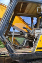 Demolition machine heavy duty used interior Stock Photos