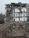Demolition a of an old building in bucharest Stock Image