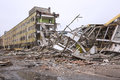 Demolition of the old factory building Royalty Free Stock Photo