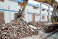 Demolition of old factory building Royalty Free Stock Photo