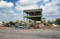 Demolition of old industrial site Royalty Free Stock Photo