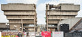 The Demolition of the Old Library, Birmingham, England. Royalty Free Stock Photo