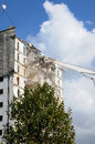Demolition of an old tower in les mureaux france Stock Photo